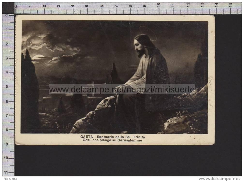 R1111 RELIGION GESU' CHE PIANGE SU GERUSALEMME GAETA SANTUARIO DELLA SS. TRINITA' Leggera Piega - Jésus