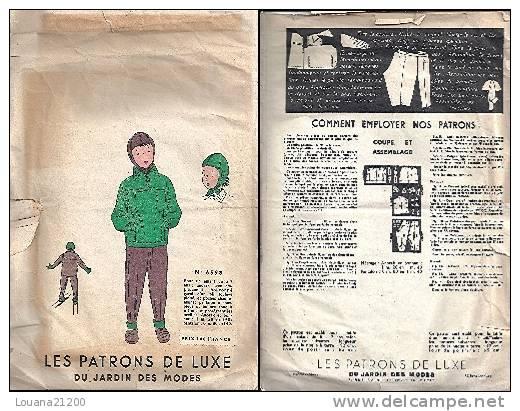 """Patron De Luxe """"Anorak, Pantalon Et Bonnet"""" Pour Enfant  De 5 à 7 Ans (6598)_L32 - Patterns"""