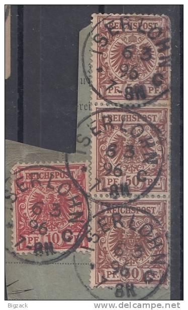 DR Paketkartenausschnitt Minr.47,3x 50 Iserlohn 6.3.96 - Deutschland