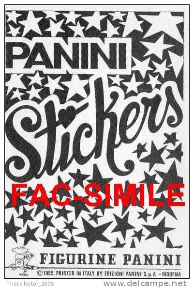 Stickers Figurine Panini Nuove / New-mint - Vintage 1985 (Glittered !!) - Panini
