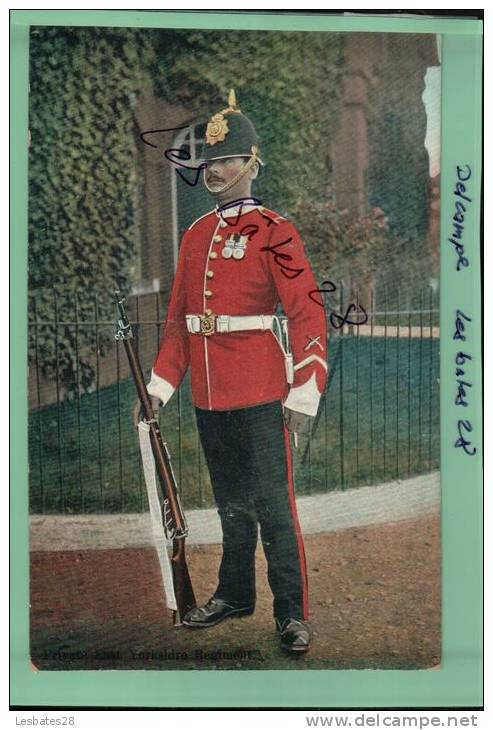 """CPA Royaume -MILITARY -   Private  Yorshire  Regiment  """"CHROMOS """"- AVRIL 2 SAL-2012 -0243 - Regimente"""