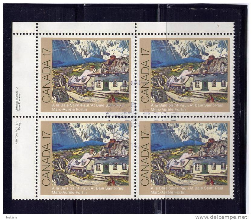 CANADA. USED # 887i, 1981, CANADIAN PAINTERS          UL BLOCK USED - Blocs-feuillets