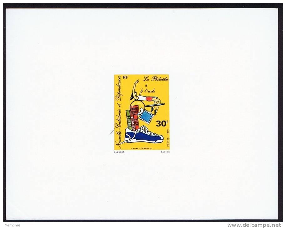 1980 Epreuve De Luxe Sur Bristol -- Philatélie à L´école Y&T 438 - Non Dentelés, épreuves & Variétés
