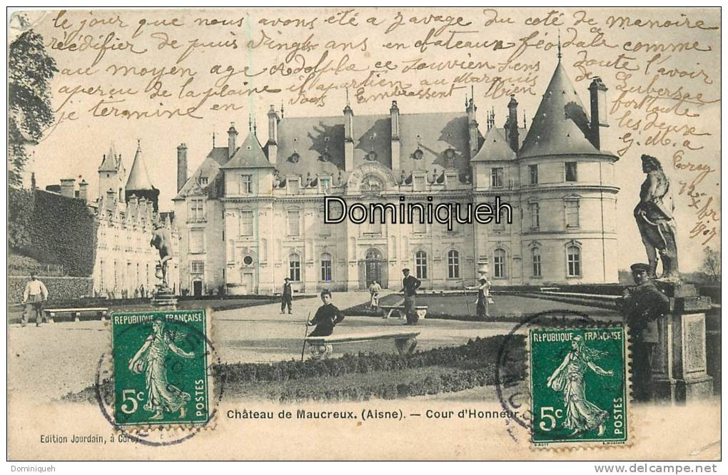 Faverolles    Château De Maucreux Cour D'Honneur    Jardiniers - Other Municipalities