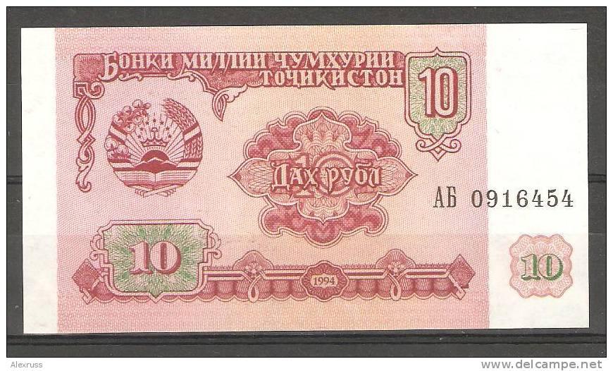 Tajikistan 1994,10 Rubles,VF CRISP UNC,P3 - Tajikistan