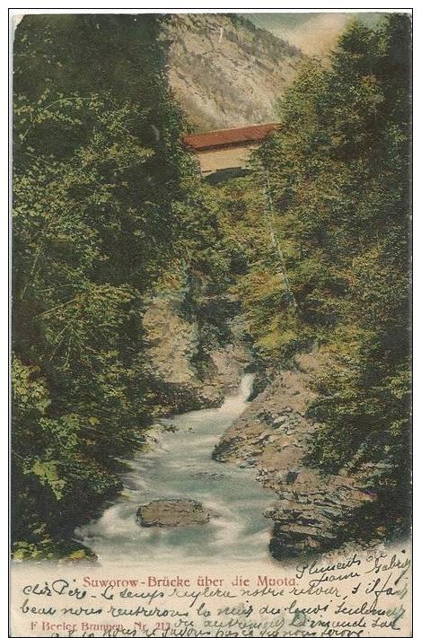 90793 Cpa  SUISSE MUOTA Suworow Brücke (color) (voir Affranchissement) - Non Classés