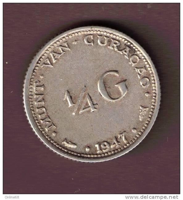 CURACAO 1/4 GULDEN 1947  ARGENT SILVER - Curacao