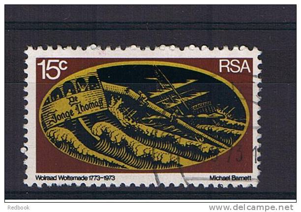 """RB 861 - South Africa 1973 - Rescue At Sea - 15c Ship """"De Jonge Thomas"""" Breaking Up - Fine Used Stamp - SG 334 - South Africa (1961-...)"""
