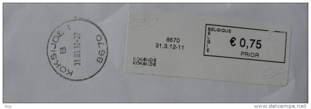 België 2012 Koksijde 8670 - Nieuw Logo Bpost - Postage Labels