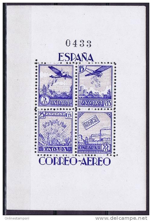 Spain: Ondara Block 4 - 5, 15, 25 Y 55 Cts. MNH/Neuf** - Ungebraucht