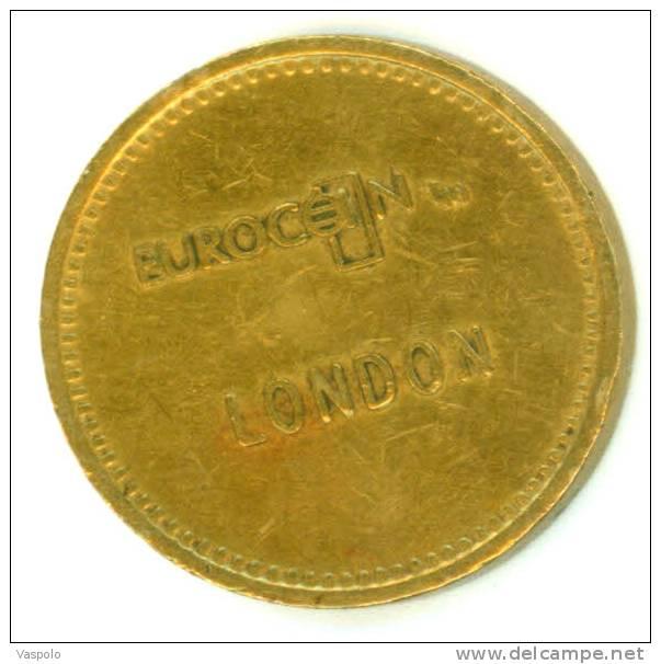 EUROCOIN TOKEN;JETON;GETTONE; 2Op;LONDON EUROCOIN-FLAT EDGE,NICE GRADE-DIAMETER-25 Mm - United Kingdom