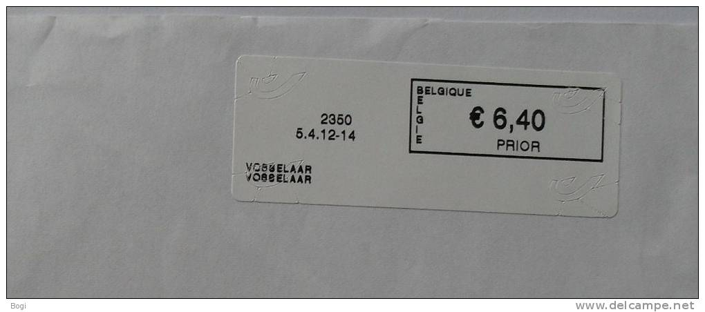 België 2012 Vosselaar 2350 - Nieuw Logo Bpost (fragment 114 X 228 Mm) - Vignettes D'affranchissement