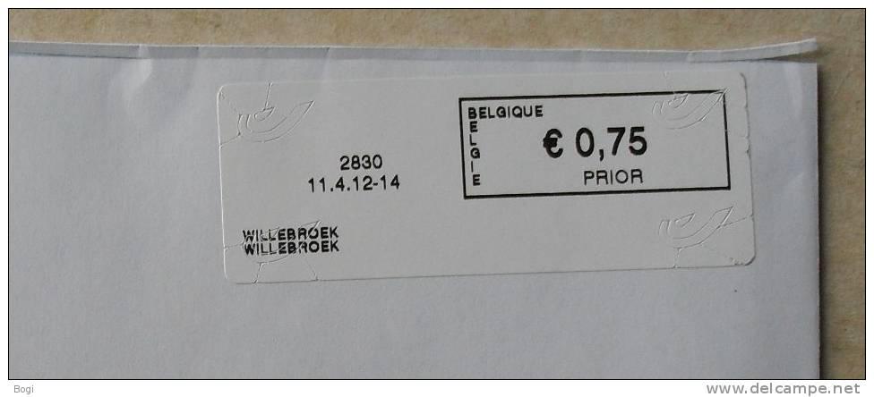 België 2012 Willebroek 2830 - Nieuw Logo Bpost - Automatenmarken (ATM)