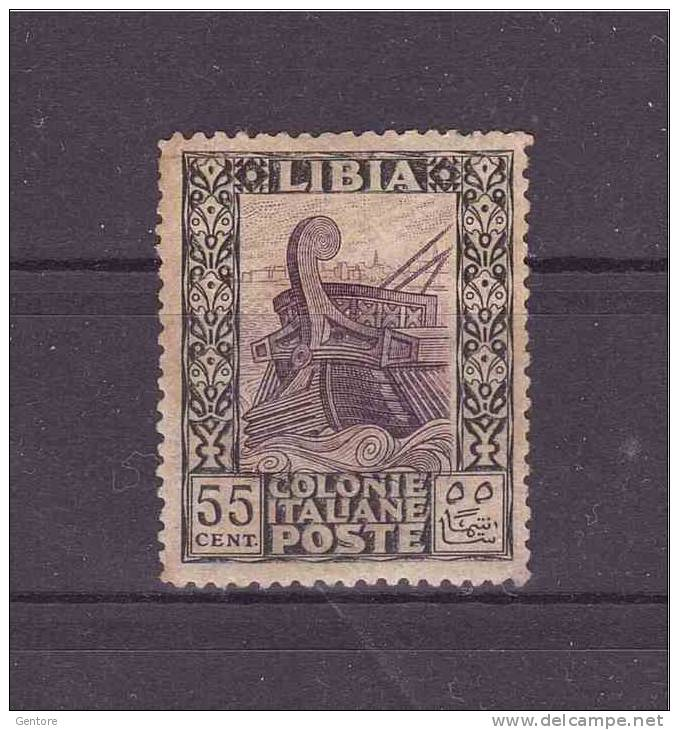 "LYBIA 1924-29 ""Pittorica""  55 Cent. Sassone Cat. N° 52  MNH Very High Cat Value - Libya"