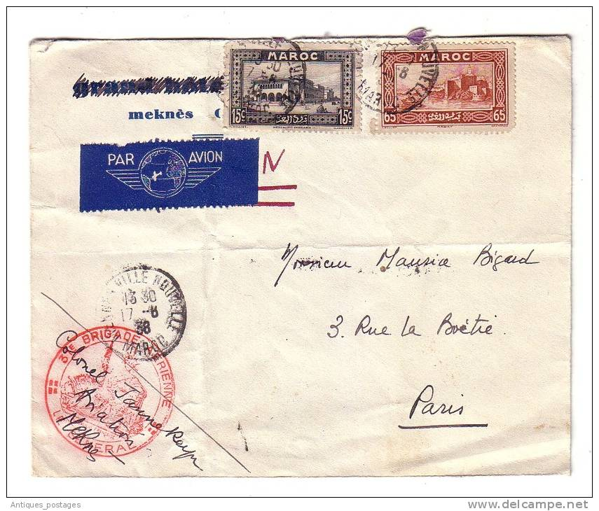 Maroc Meknès Brigade Aérienne Aviation Le Général 1938 - Maroc (1891-1956)