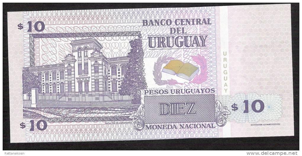 URUGUAY   P81   10  P.U.  1998 Serie A     UNC. - Uruguay