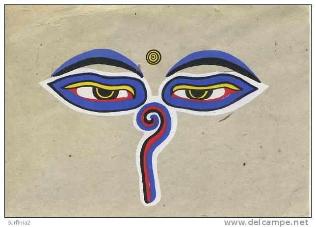 NEPAL - EYES OF SHWOYAMBHUNATH ON HAND MADE PAPER - Népal