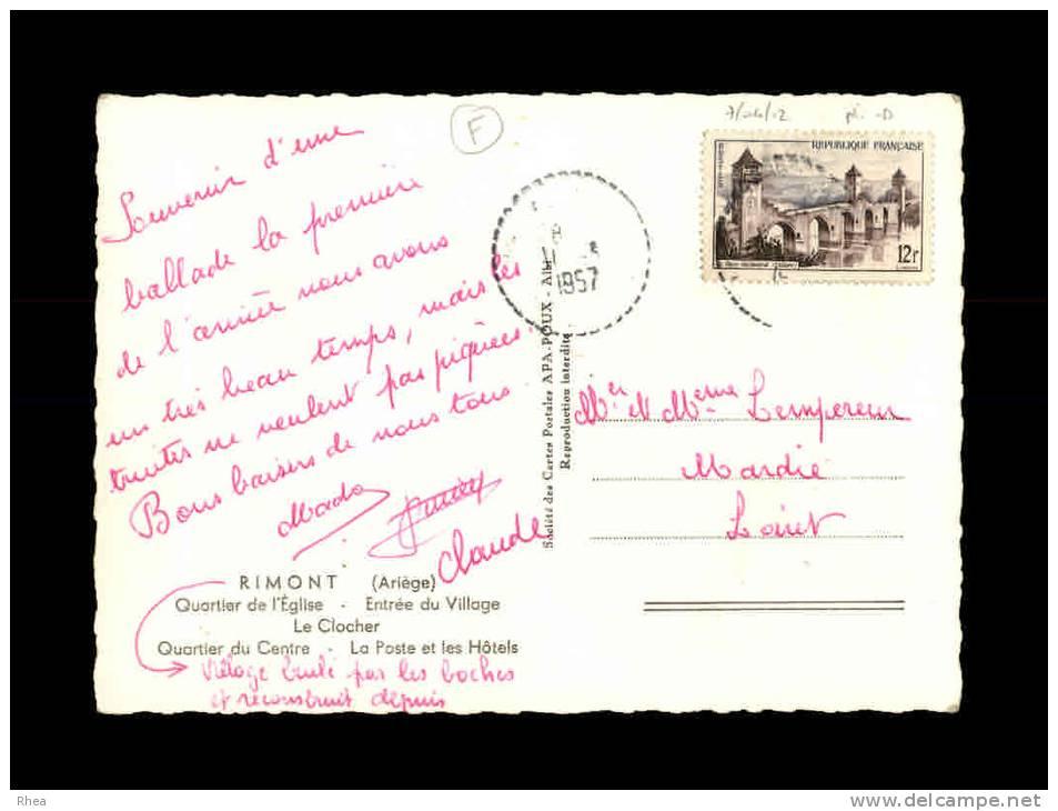 09 - RIMONT - Quartier De L'Eglise - La Poste Et Les Hôtels - Multi Vues - France