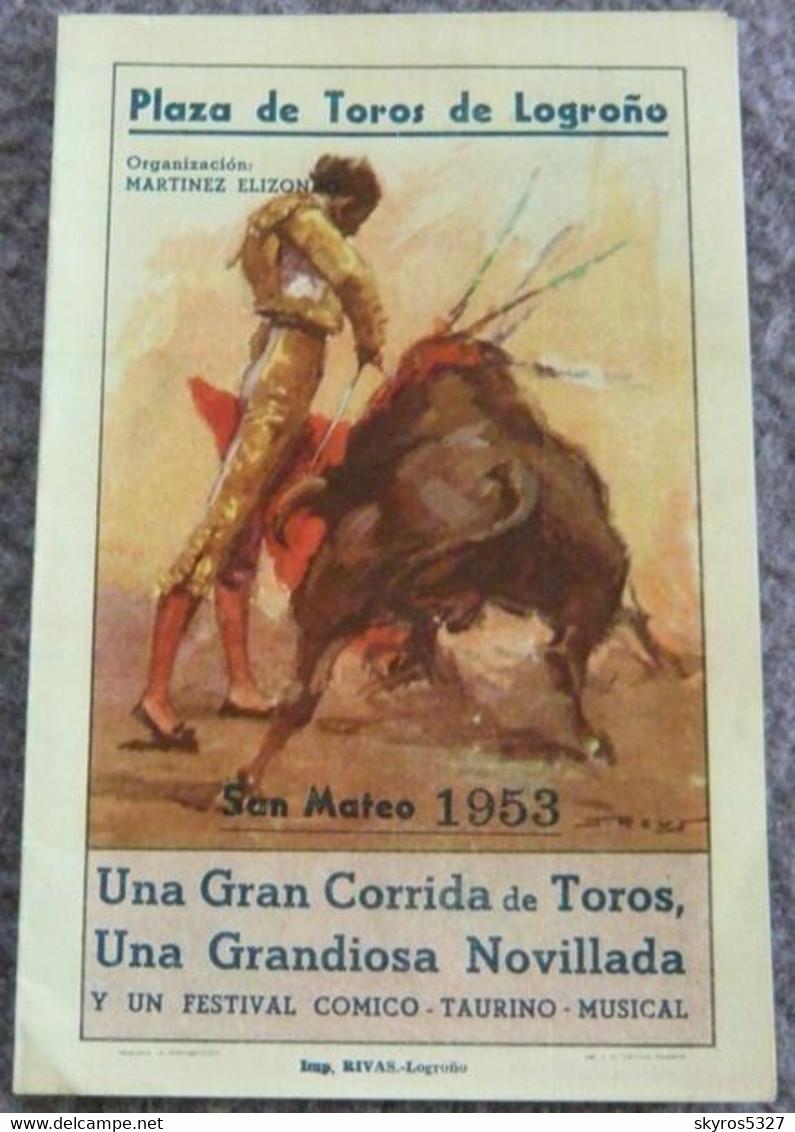 Plaza De Toros De Logrono San Mateo 1953/2 - Books, Magazines, Comics
