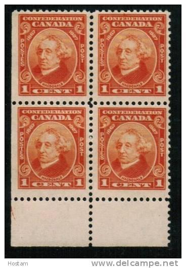 CANADA. 1927, # 141, Sir John A Macdonald, Block LL, MNH - Blocs-feuillets
