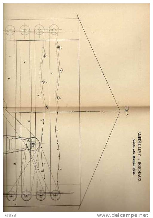 Original Patentschrift - Schießstand , 1899 , Jahrmarkt , Kirmes , Rummel , A. Lévy In Bordeaux !!! - Toy Memorabilia