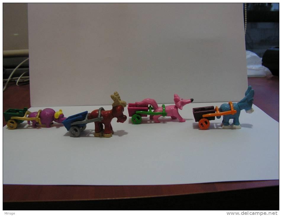 "Lot Of 4 Animals Kinder Surprise Toy ""le Royaume De La Rigolade"" - Kinder & Diddl"