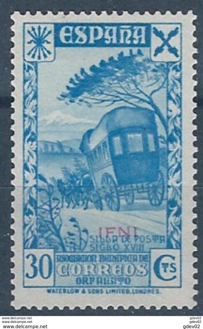 IFBE3SGV-L4192TTOT.Marocco. Maroc. Lote IFNI ESPAÑOL Beneficencia.Historia Correo.1938(Ed ,3**) Sin Charnela.LUJO - Transporte
