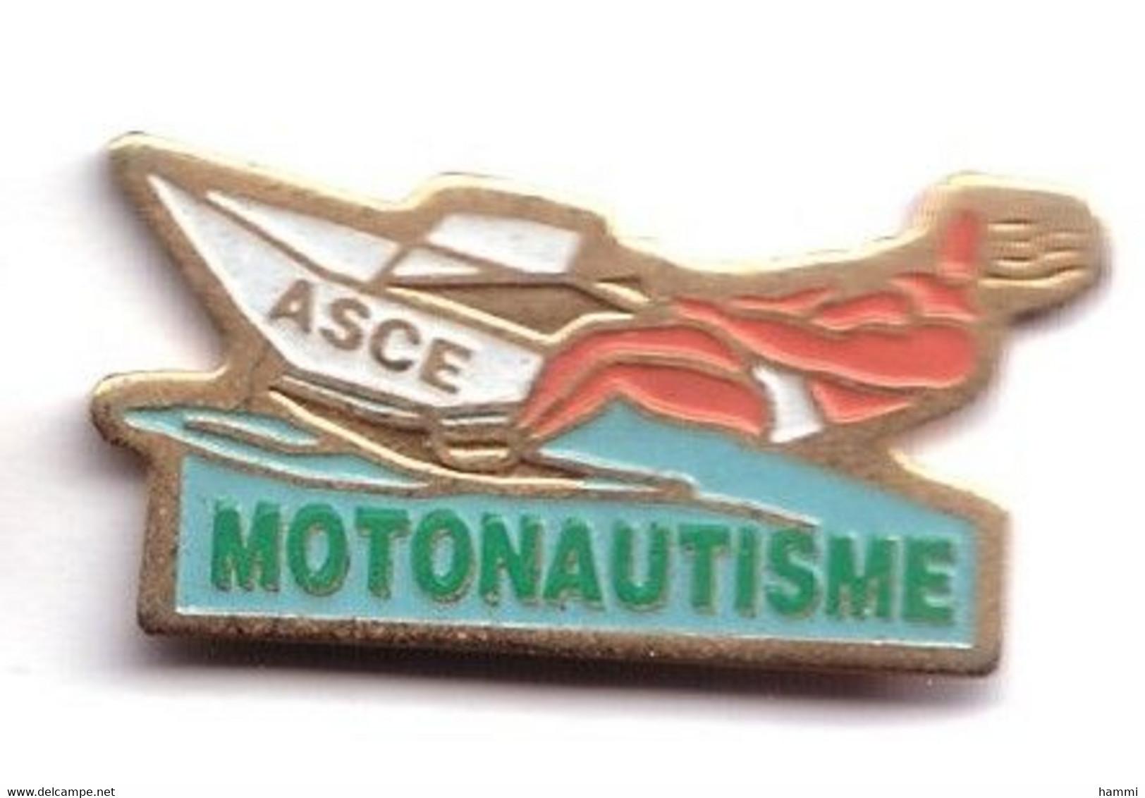 X219 Pin's Association Sportive De Corbeil-Essonne ASCE Motonautisme Ski Nautique Achat Immédiat Immédiat - Ski Nautique