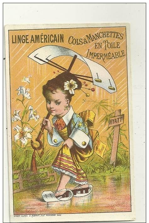 FEMME JAPONAISE   HYATT  FLEURS  LINGE AMERICAIN 1884 - Otros