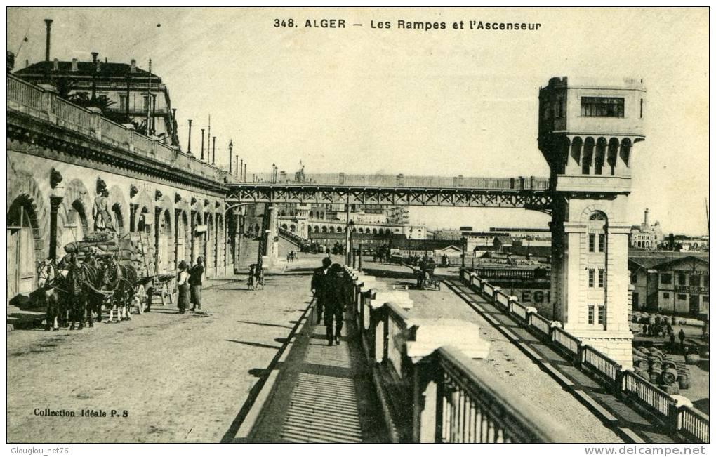 ALGER...LES RAMPES ET L'ASCENSEUR......C PA  ANIMEE - Algiers