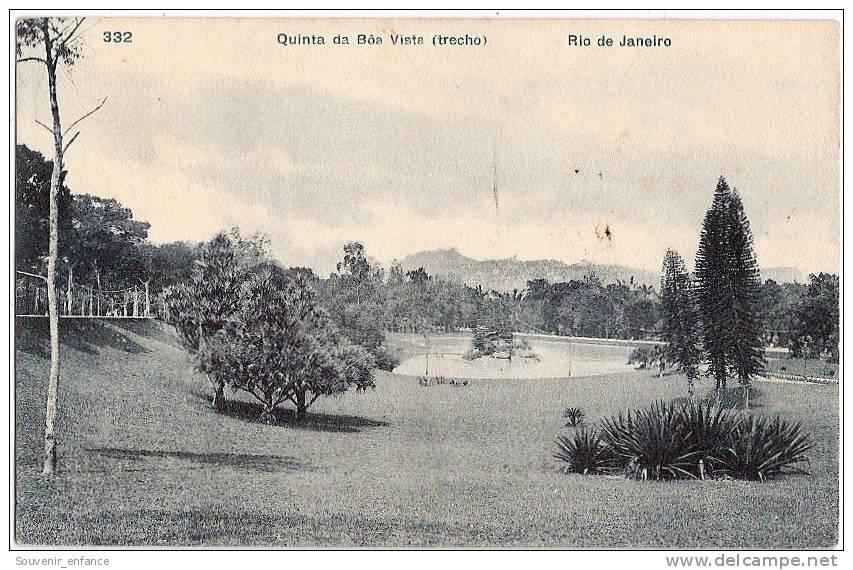CPA Rio De Janeiro Bresil Brasil  Quinta Da Boa Vista Trecho - Boa Vista