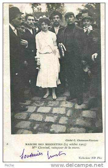 N°19812 -cpa Marché Des Midinettes -Mlle Cheminel Vainqueur De La Course- - Nanterre
