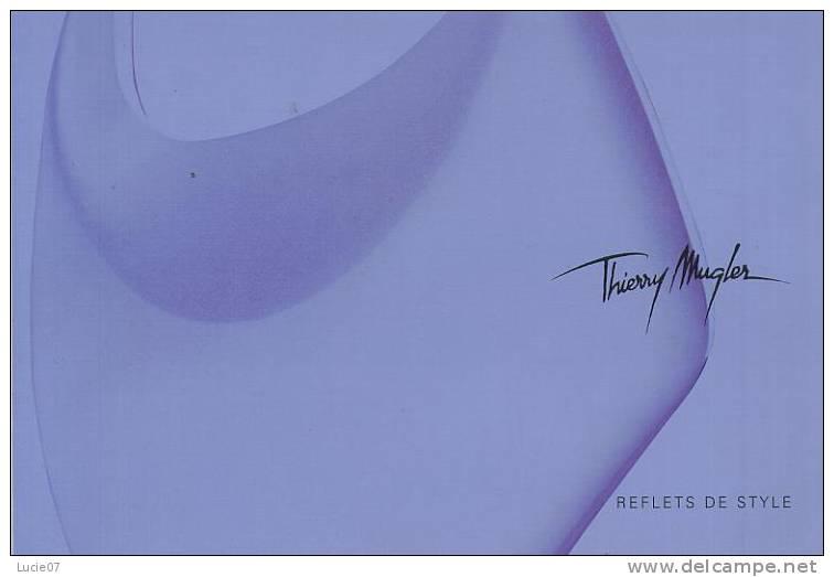 Achat Immédiat  1  Carnet ANGEL  Thierry MUGLER  REFLETS DE STYLE  13 PAGES Belles Photos De 2003 - Catalogues