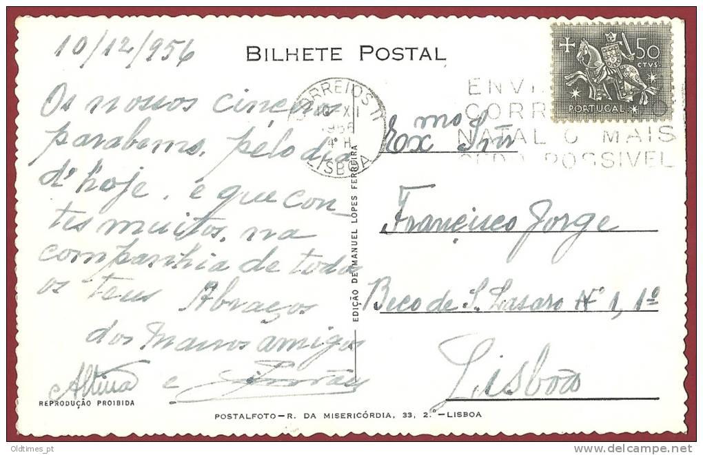 PORTUGAL - FERREIRA DO ZEZERE -  UM TRECHO DA VILA - 1950 REAL PHOTO PC - Santarem