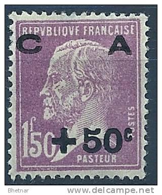 "FR YT 251 "" Amortissement Pasteur +50c Sur 1F50 Lilas "" 1928 Neuf* - Sinking Fund"