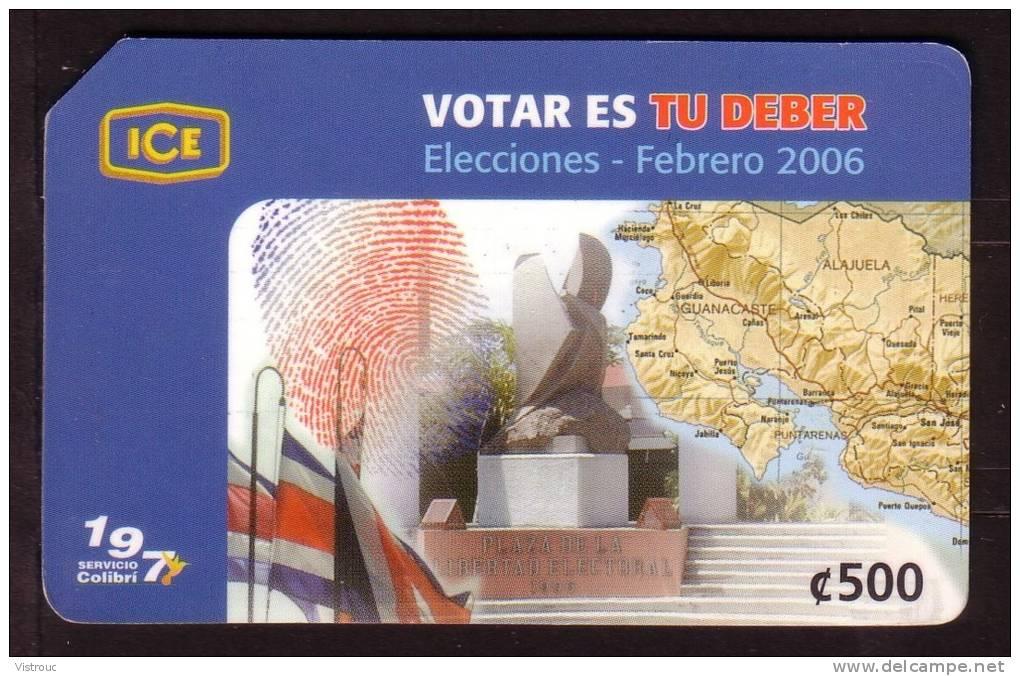 Election De Février 2006 - Incitation Au Vote  - C500  - Used - Costa Rica