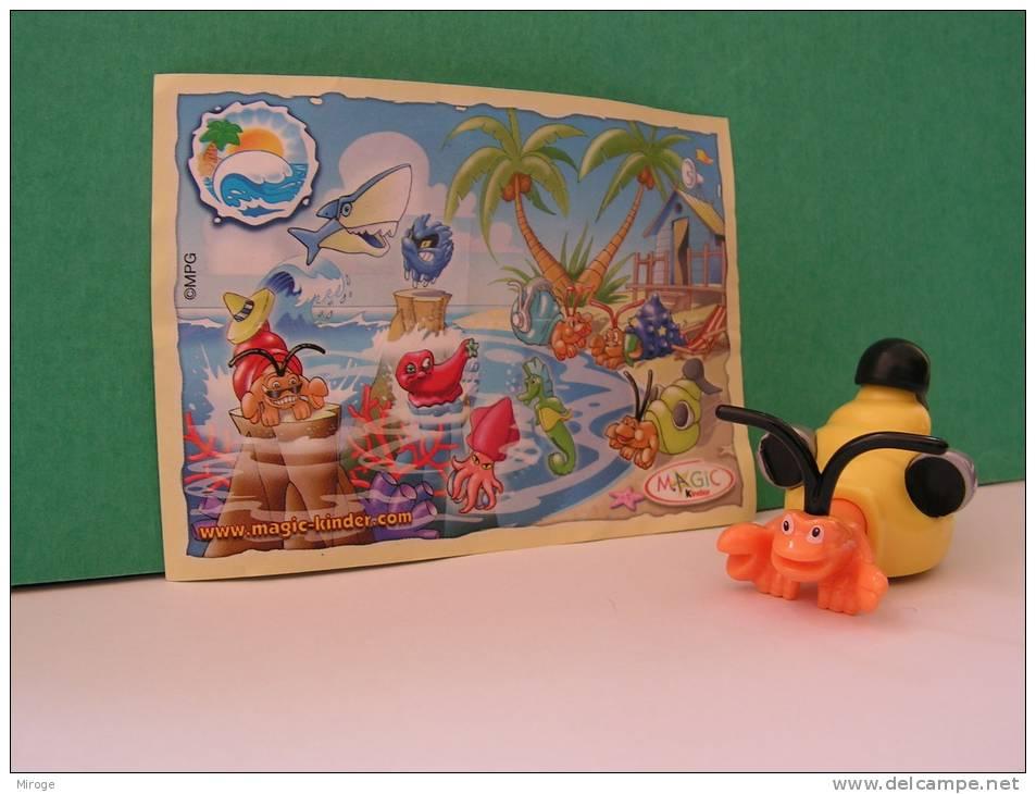 Mollusc, Magic  Kinder Surprise Toy + Bpz - Kinder & Diddl
