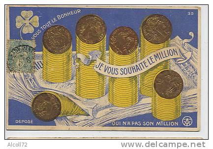 Je Vous Souhaite Le Million ( Billets , Pièces En Or ) - Monnaies (représentations)