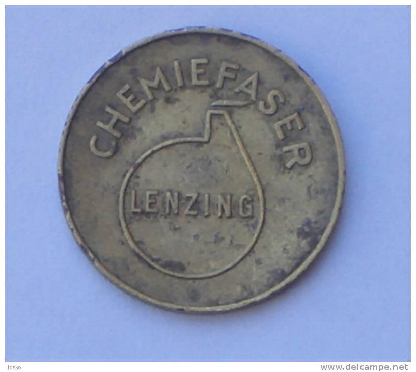 CHEMIEFASER LENZING - 1. Liter  ( Austria Token ) * Osterreich Jeton Tokens Gettone Gettones - Professionals / Firms