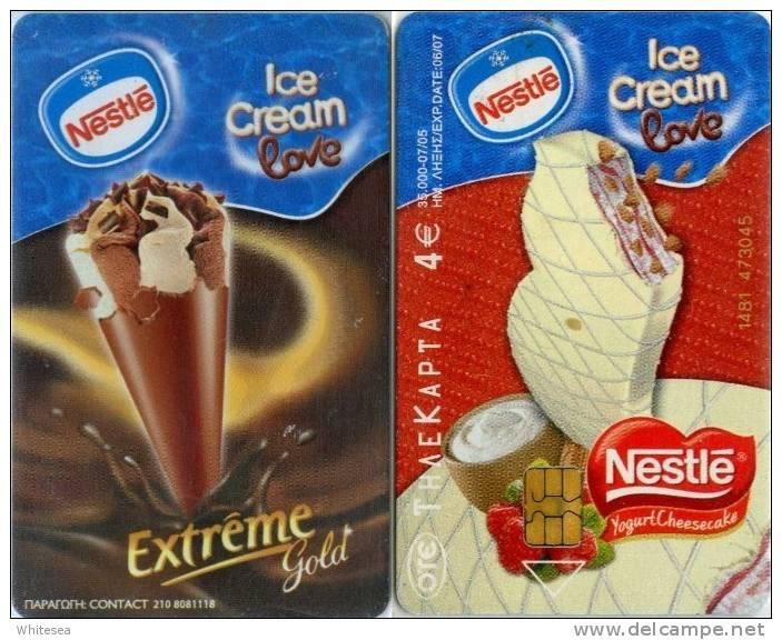 Telefonkarte Griechenland - 07/05 -  Werbung - Nestle - Eis,Ice Cream - Aufl. 35000 - Greece