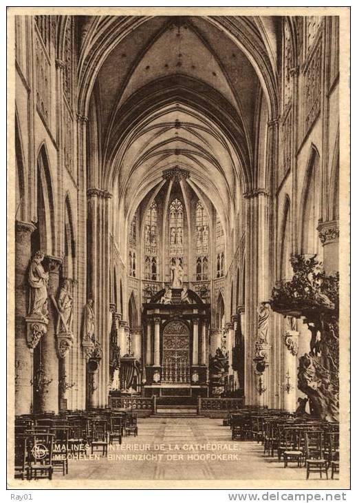 BELGIQUE - BRABANT FLAMAND - MECHELEN - MALINES - Intérieur De La Cathédrale - Binnenzicht Der Hoofdkerk (n°6). - Machelen