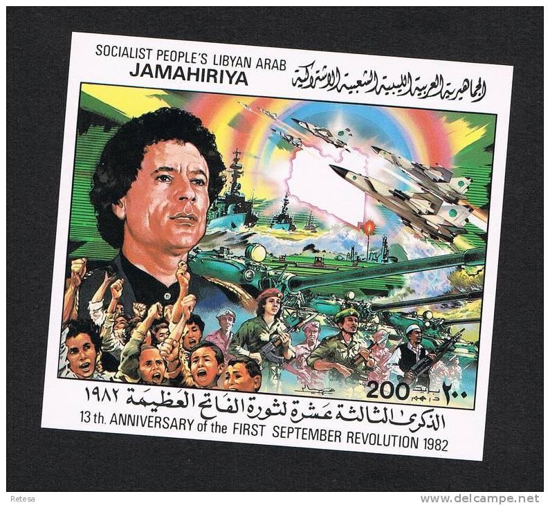 LIBYE BLOK N° 56  13th VERJAARDAG REVOLUTIE SEPTEMBER 1982  ** - Libye