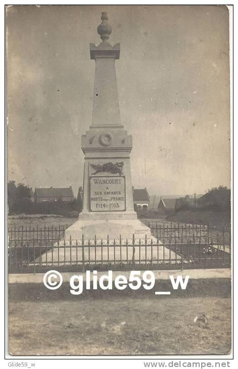 WANCOURT (Monument Aux Morts) - France