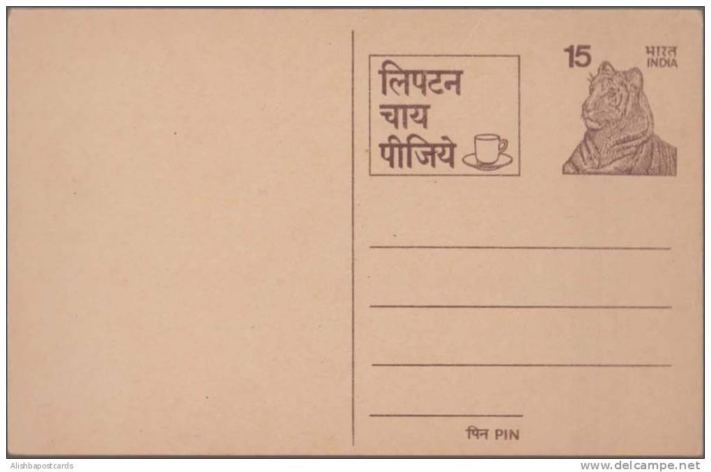 Tiger, Big Cat, Drink Lipton Tea, Advertisement Postal Card, MINT India - Drinks