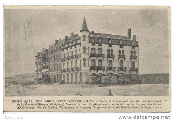 TP Armoirie Roulette 1903 Bruxelles S/CP Grand Hôtel Des Dunes Oostduinkerke-Bains V.Baasrode 888 - Prematasellados