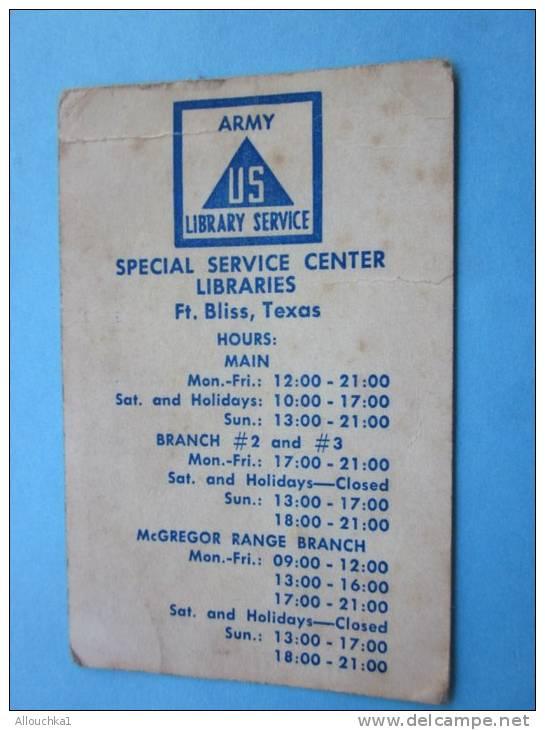 Militaria1962 Calendrier De Petit Format En Anglais De L'US Armée Librairie Service-spécial Service Icenter Texas - Calendars