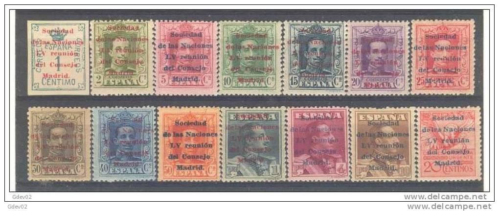 ES455-3790TOIO-MCES1 .España,Spain Espagne SOCIEDAD DE NACIONES 1929 .(.Ed 455/68**) Sin Charnela LUJO - ONU