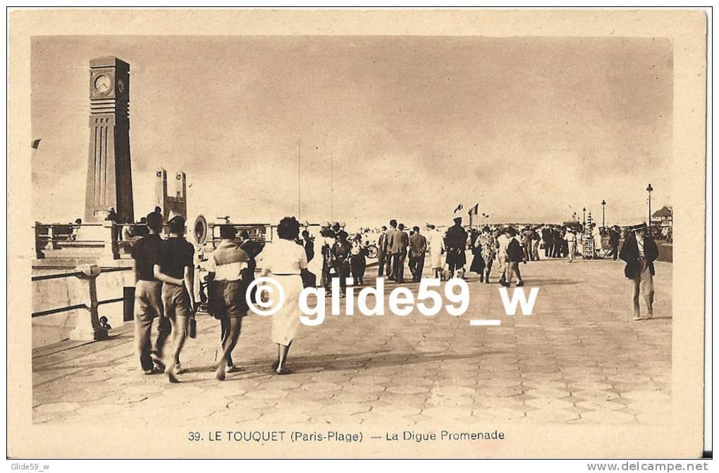 LE TOUQUET (Paris-Plage) - La Digue Promenade (animée) - N° 39 - Le Touquet