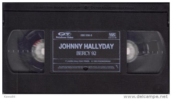 """V-H-S  Johnny Hallyday  """"  Bercy 92  """" - Concert Et Musique"""