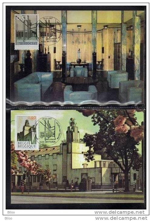 CMAX 3629/30, 2007, MB, La Maison Stoclet, De Joseph Hoffmann, Architecture, émission Commune Avec La Tchéquie - Cartoline Maximum
